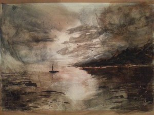 Watercolour breakthrough for me. At last getting light and dark and space !!