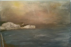 Saltdean cliffs my last oil of 2014 on A2 canvas thank you
