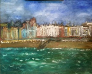 Oil on hardboard Brighton UK impressions just completed 60 x 50 cm